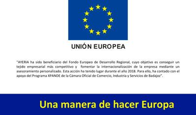 Logo Unión Europea Xpande Cámara de Comercio Badajoz