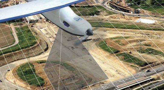 Dron realizando mediciones